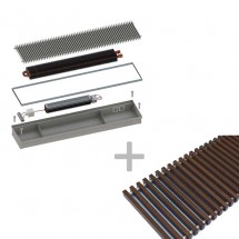 Конвектор ITTBZ.140.400.1200 с решеткой GRILL.LGA-40-1200 brown —