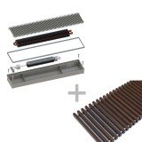 Конвектор ITTBZ.090.250.2000 с решеткой GRILL.LGA-25-2000 brown —